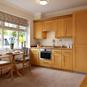 Headingley Hall Apartment kitchen - Westward Care