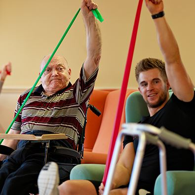 Exercise With Residents - Westward Care