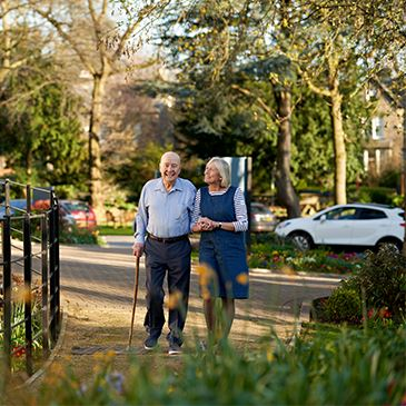Walking in Southlands gardens - Westward Care